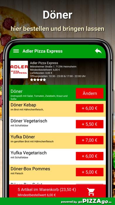 Adler Pizza Express Heimsheim screenshot 6