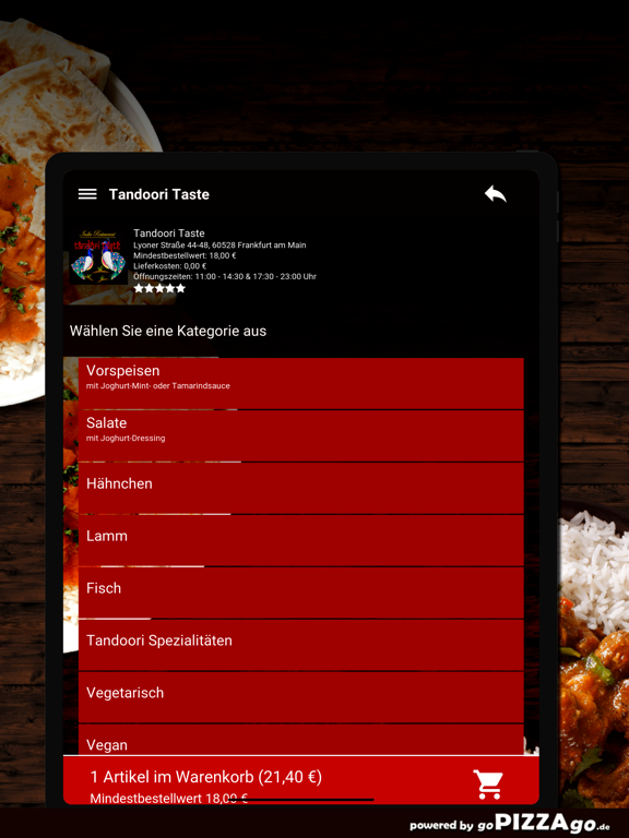 Tandoori Taste Frankfurt screenshot 8