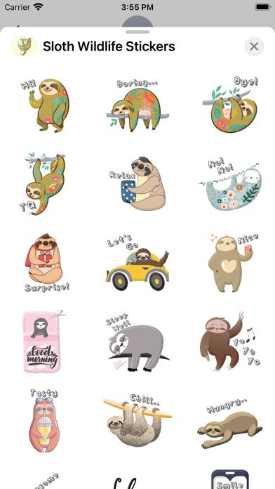 Sloth Wildlife Stickers screenshot 2