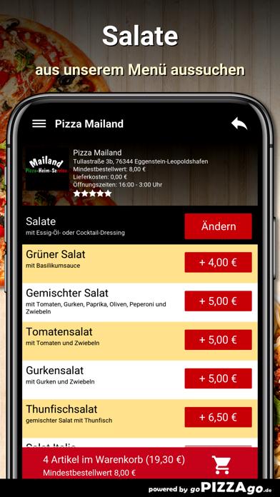 Pizza Mailand Eggenstein-Leopo screenshot 6