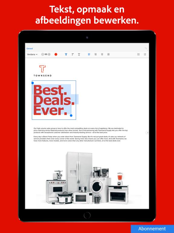 Adobe Acrobat Reader voor PDF iPad app afbeelding 7