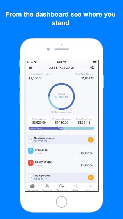 iSaveMoneyGo: Spending tracker screenshot-0