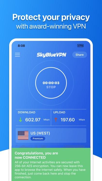 SkyBlueVPN: VPN Fast & Secure screenshot-0