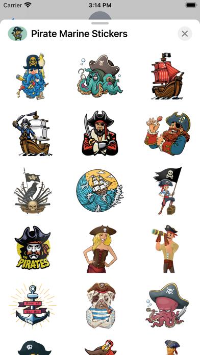 Pirate Marine Stickers screenshot 2