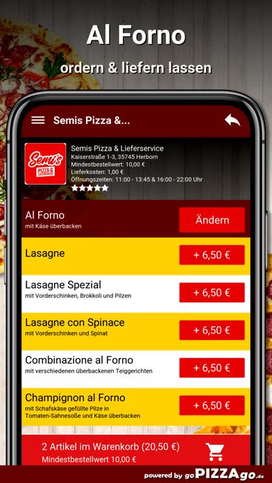 Semis Pizza Herborn screenshot 6