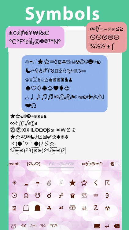 Symbol Infinity: Font Keyboard