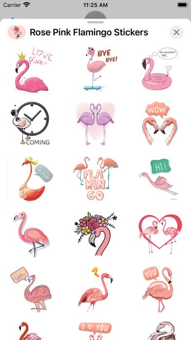 Rose Pink Flamingo Stickers screenshot 3