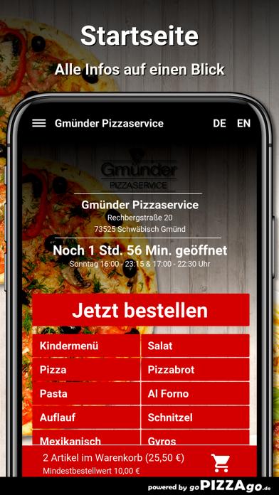 Gmünder Pizzaservice Schwäbisc screenshot 2