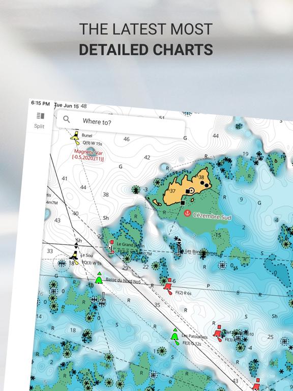 Screenshot #4 pour C-MAP : Cartes marines & météo