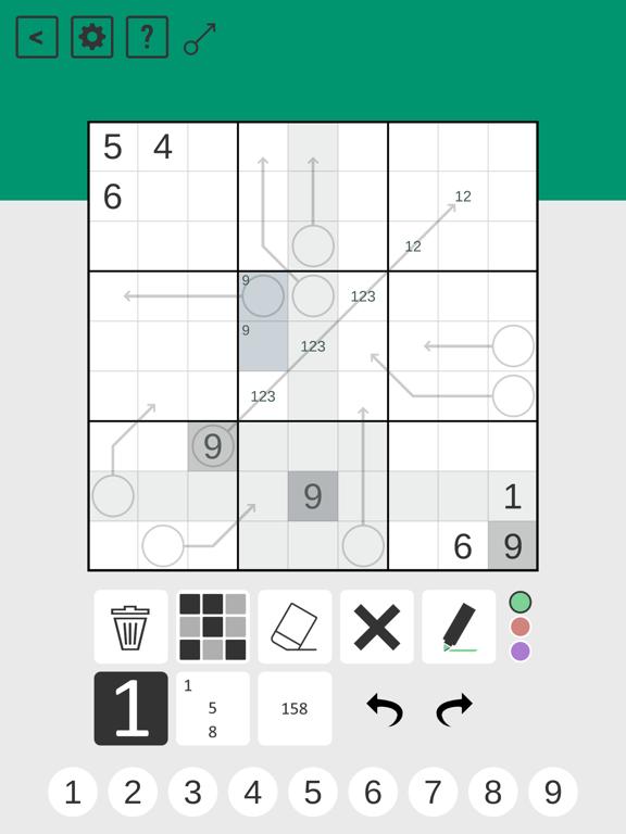 Arrow Sudoku screenshot 5
