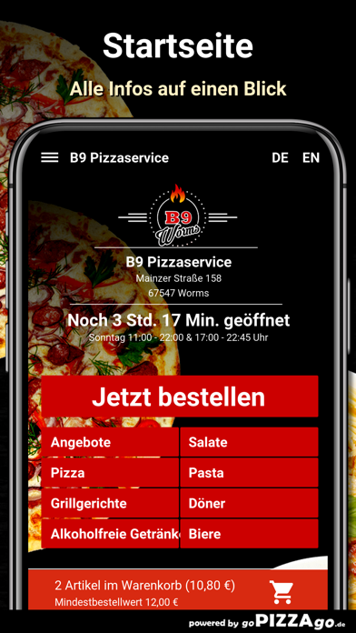 B9 Pizzaservice Worms screenshot 2