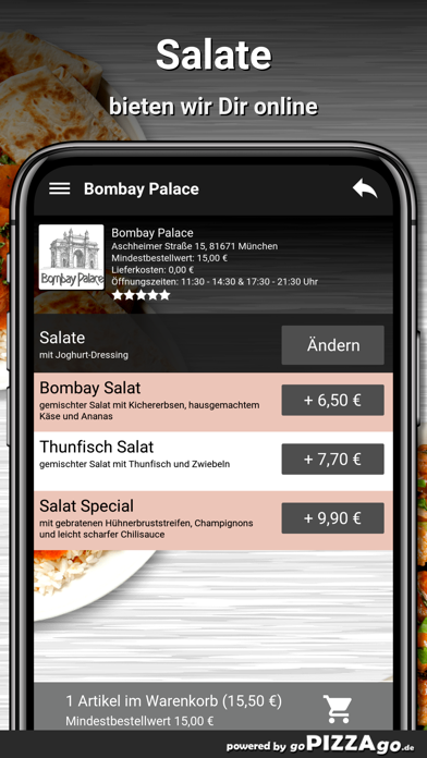 Bombay Palace München screenshot 5
