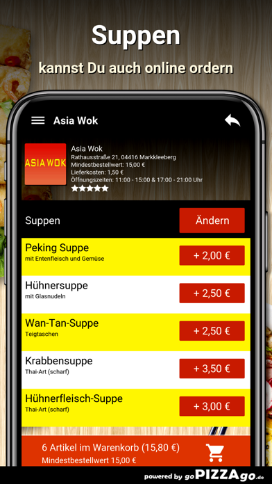 Asia Wok Markkleeberg screenshot 5