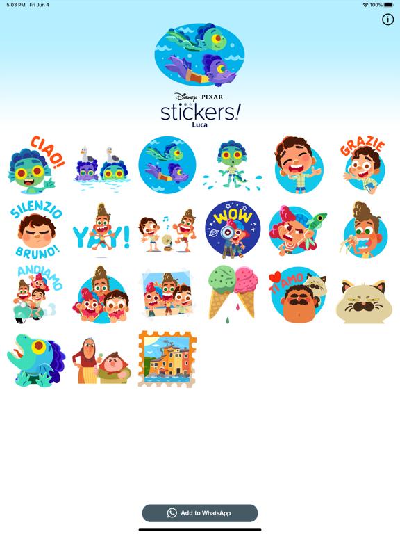 Pixar Stickers: Luca screenshot 5