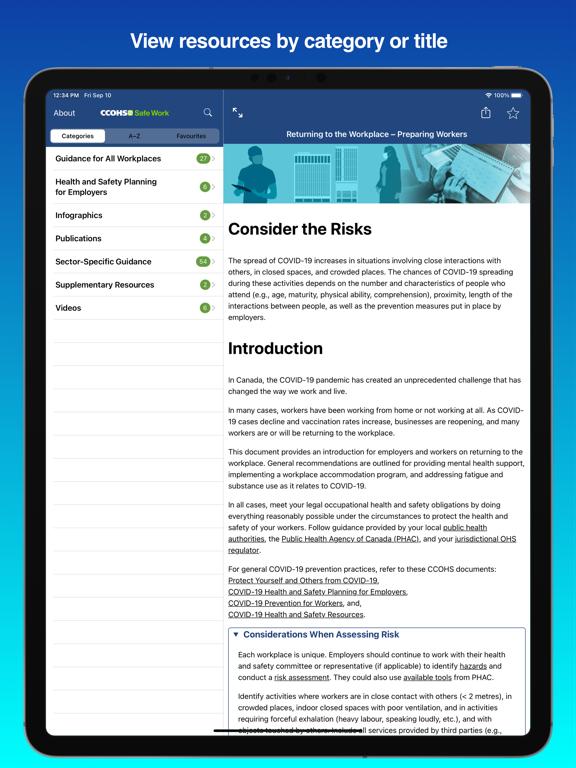 CCOHS Safe Work screenshot 7