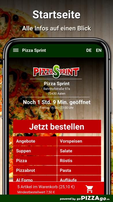 Pizza Sprint Aalen screenshot 2