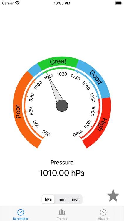 AtmoBarometer screenshot-2