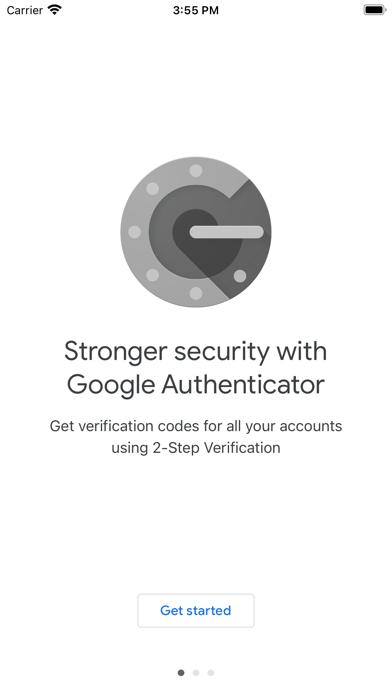 Google Authenticator Screenshot