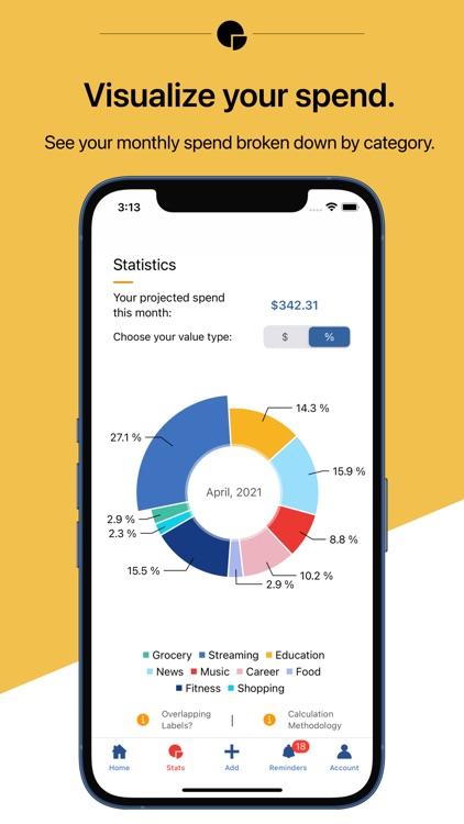 Economize: Track Subscriptions