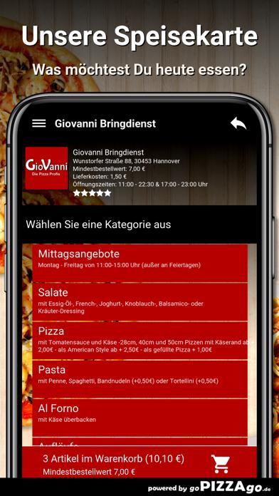 Giovanni Bringdienst Hannover screenshot 4
