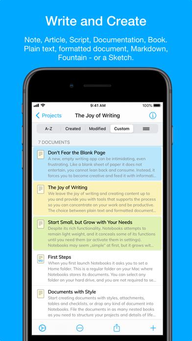 Скриншот №1 к Notebooks – Write and Organize