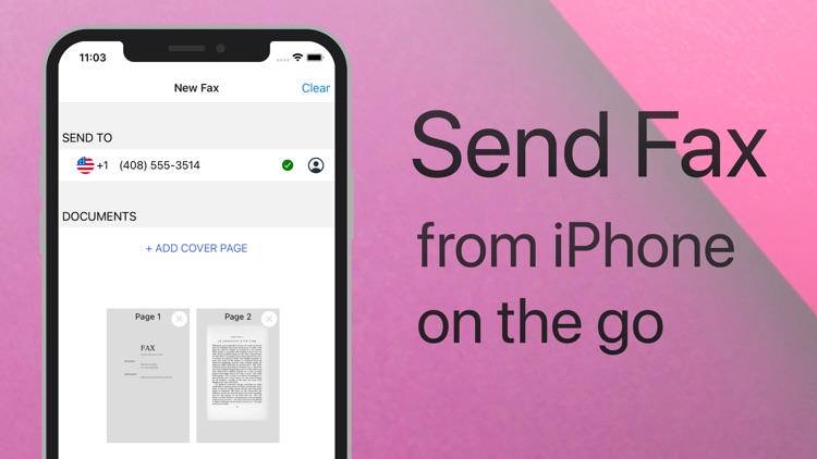 Send Fax on iPhone