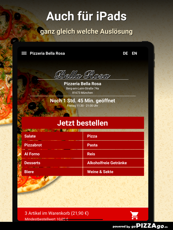 Pizzeria Bella Rosa München screenshot 7