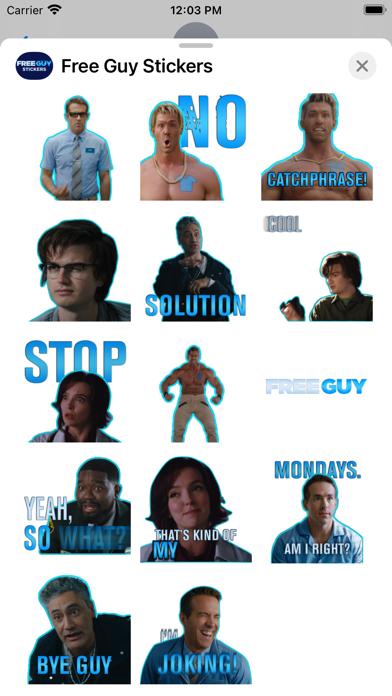 Free Guy Stickers screenshot 3