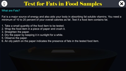 Test for Fats in Food Samples screenshot 1