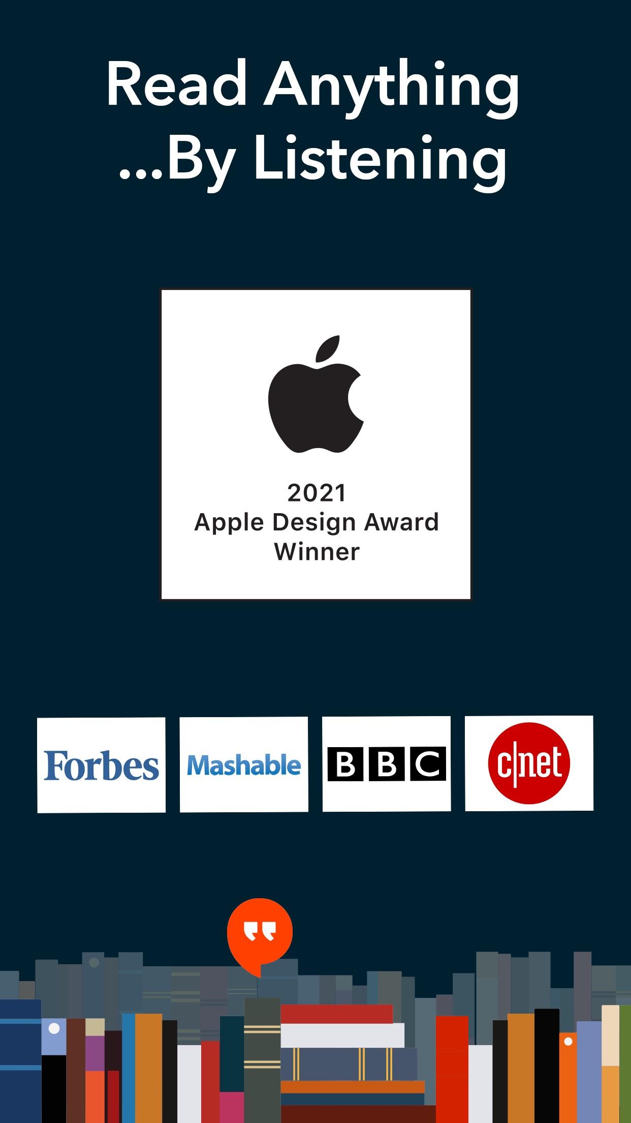 Screenshot do app Voice Dream Reader