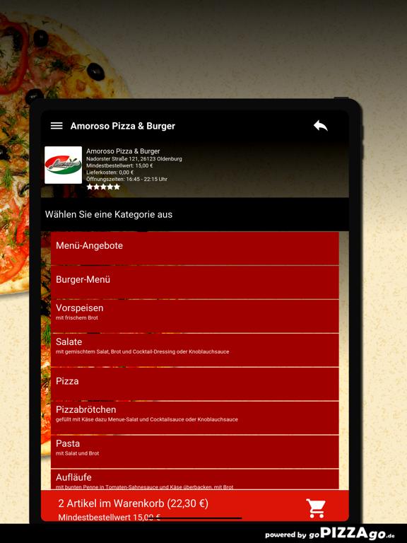 Amoroso Pizza & Burger Oldenbu screenshot 8
