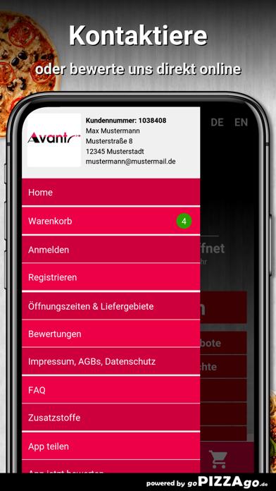 Avanti Pizza Service Günzburg screenshot 3