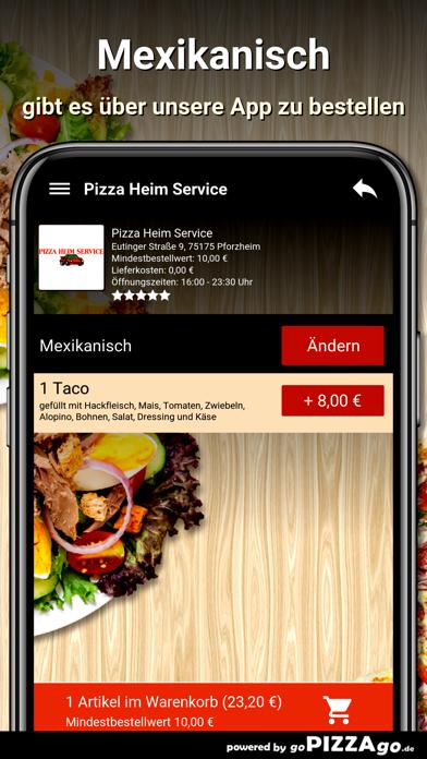 Pizza Heim Service Pforzheim screenshot 6