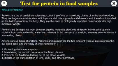 Test for protein in food screenshot 1