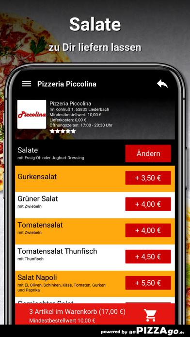Pizzeria Piccolina Liederbach screenshot 5