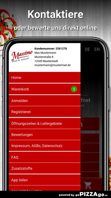 Massimo Pizza Hannover screenshot 5