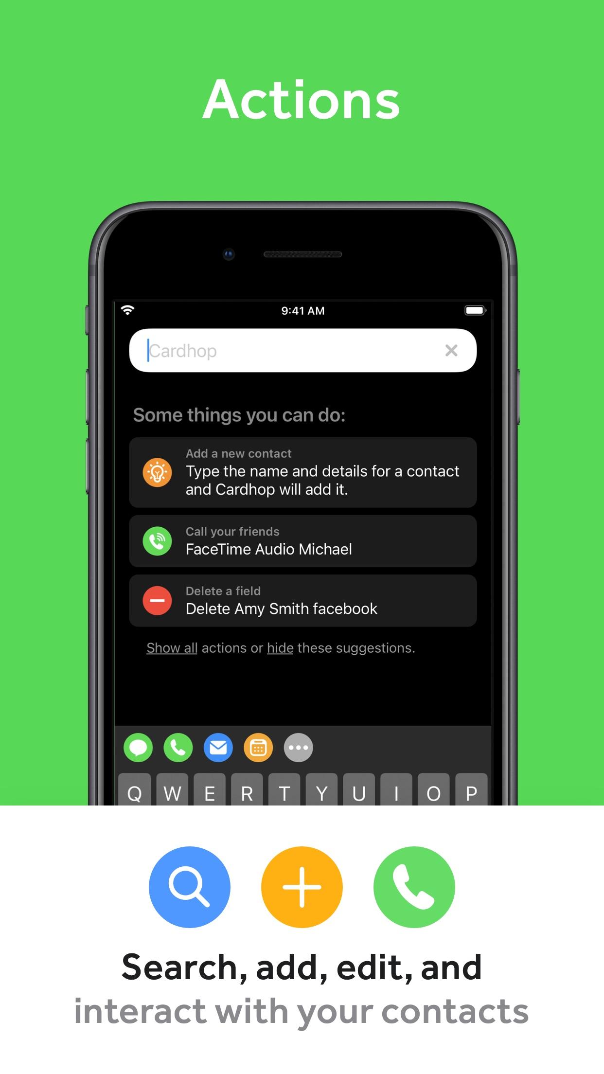 Screenshot do app Cardhop