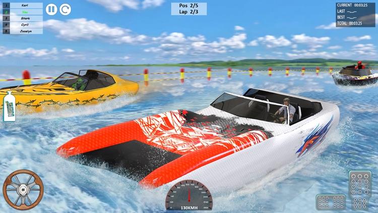 Speed Boat Driving Game 2021 screenshot-3
