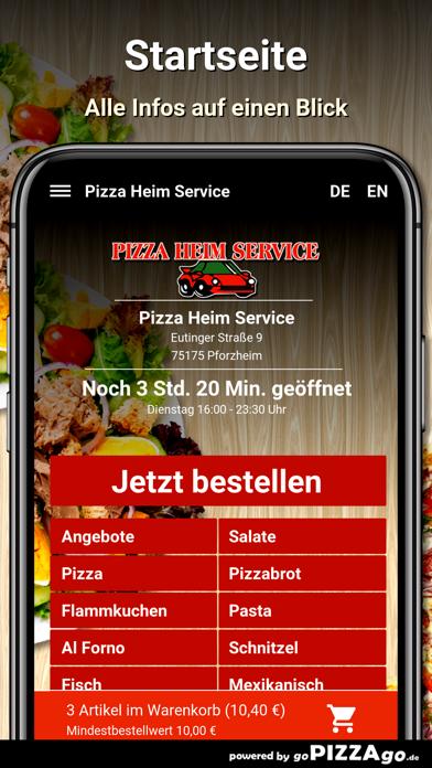Pizza Heim Service Pforzheim screenshot 2