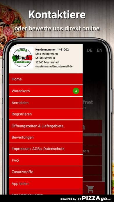 Pizzeria-Napoli Osnabrück screenshot 3