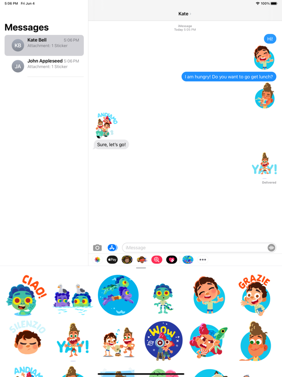Pixar Stickers: Luca screenshot 7