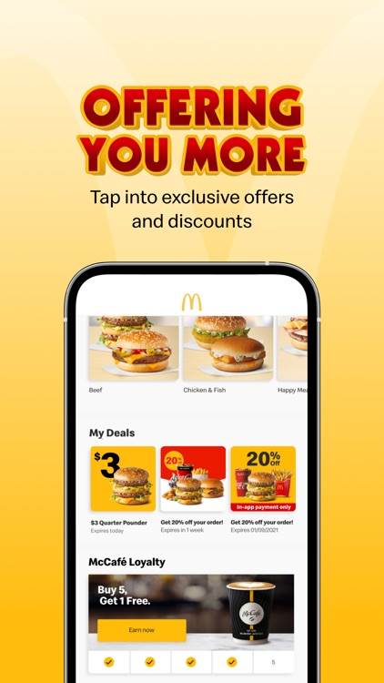 mymacca's Ordering & Offers