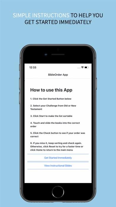the BibleOrder App screenshot 2