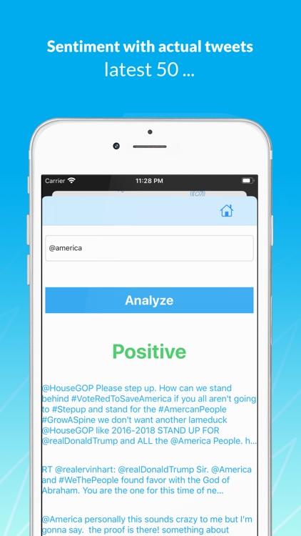 Tweets Sentiment Analyzer screenshot-4