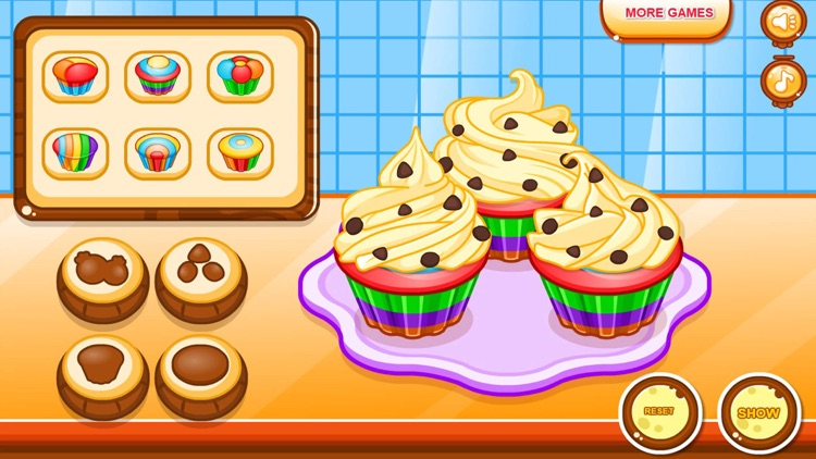 Cooking colorful cupcakes game screenshot-9
