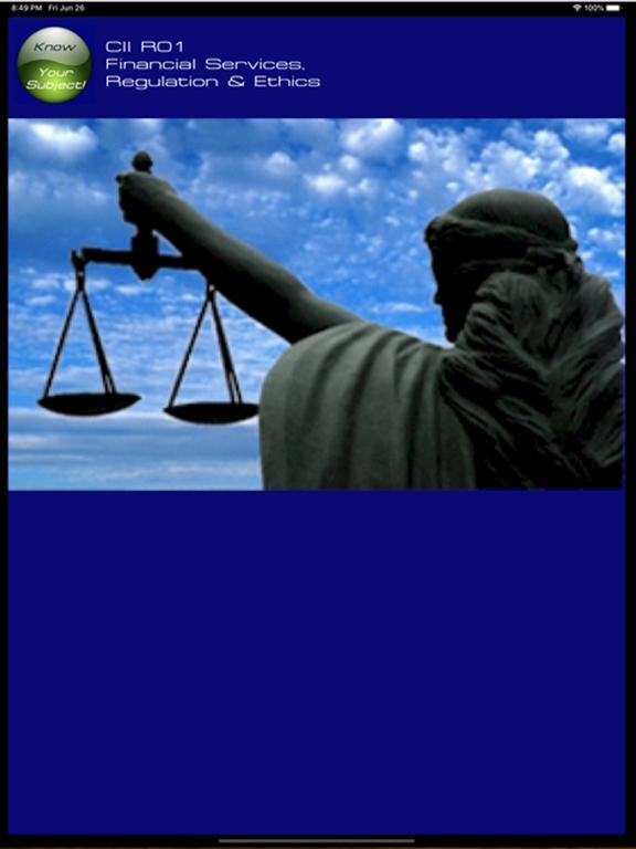 R01 Fin Services Regs & Ethics screenshot 6