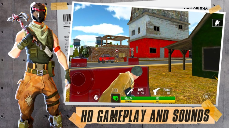 Fort Shooting Battle Royale 3D screenshot-1