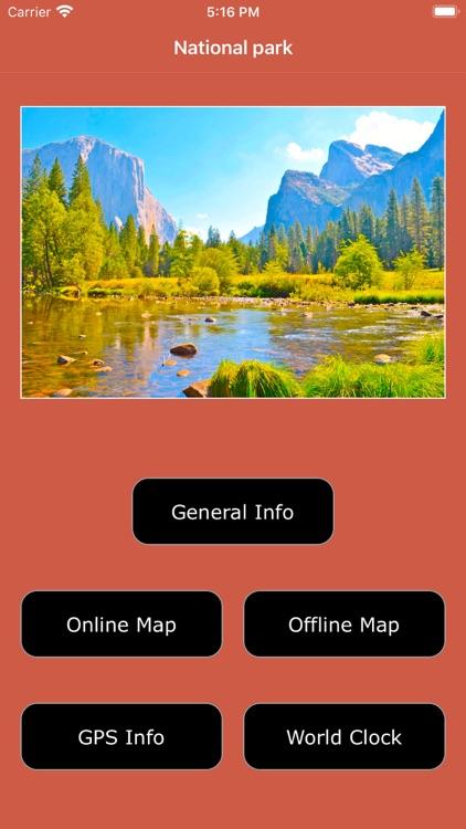 Yosemite National Park Map, CA