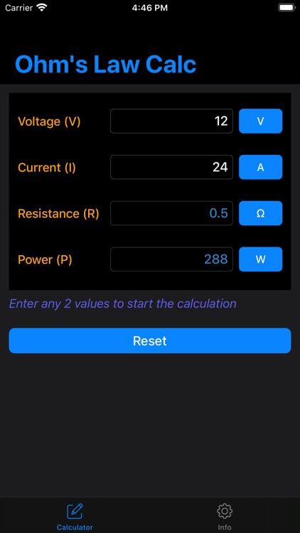 Ohm's Law Calculator - Calc
