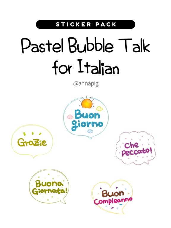 Pastel Bubble Talk for Italian screenshot 4